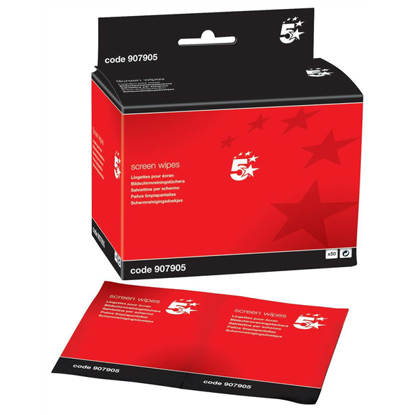 5 Star Anti-Static Screen Cleaning Sachets