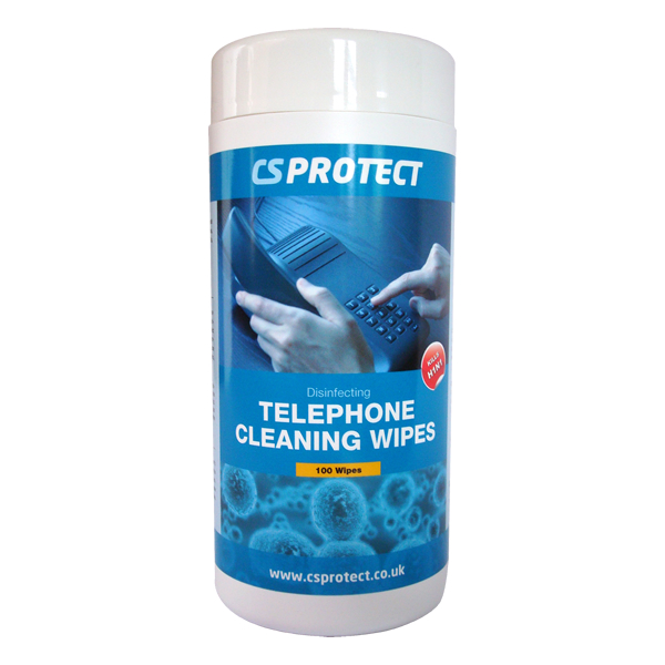 CS Protect Disinfecting Telephone Cleaning Wipes