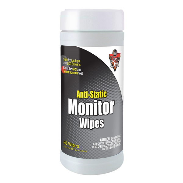 Anti Static Products : Falcon dust off anti static monitor wipes cleaning wet