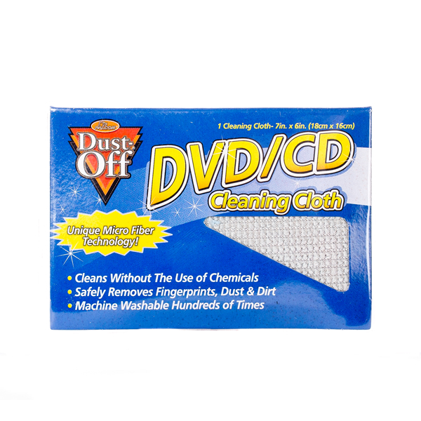 Falcon Dust-Off DVD/CD Cleaning Cloth - Packaging (no longer available)