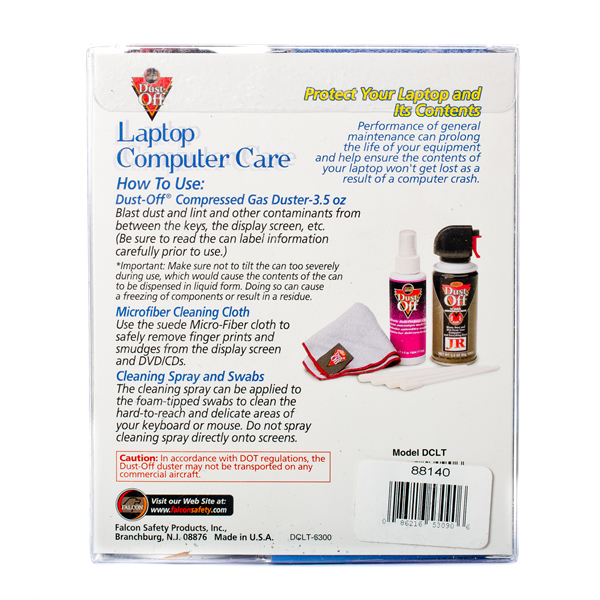 Falcon Dust-Off Laptop Computer Care Kit - Back