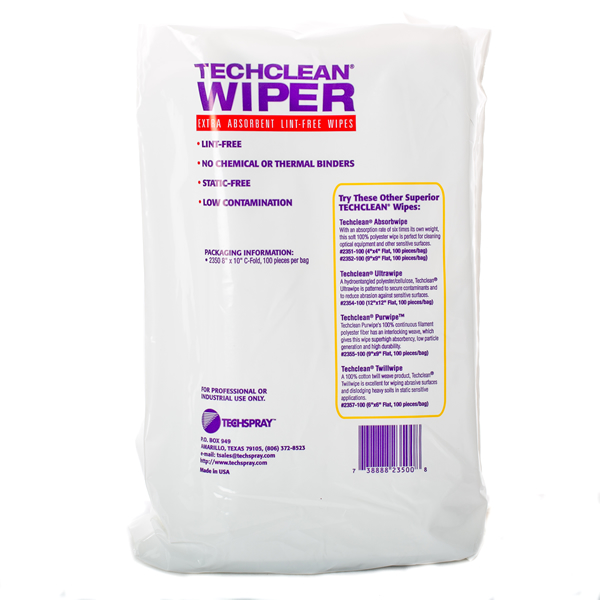 Tech-Spray Lint Free Wipes - Back