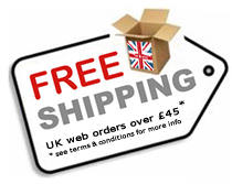 Free Shipping on UK Website Orders over £45.00